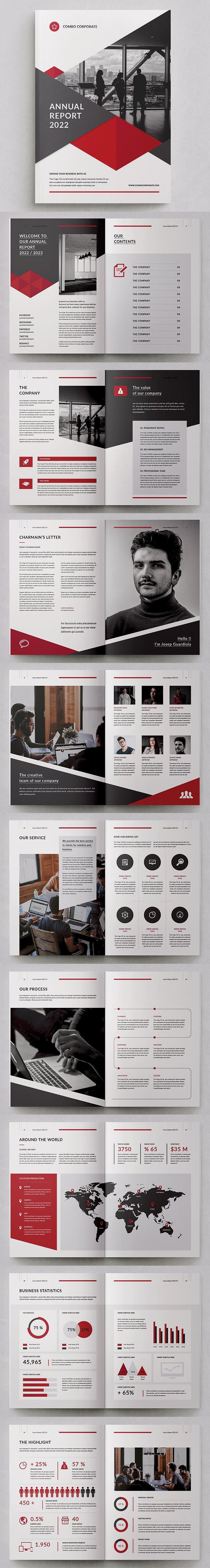 Awesome Annual Report Template