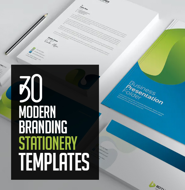 30 Modern Business Branding / Stationery Templates Design