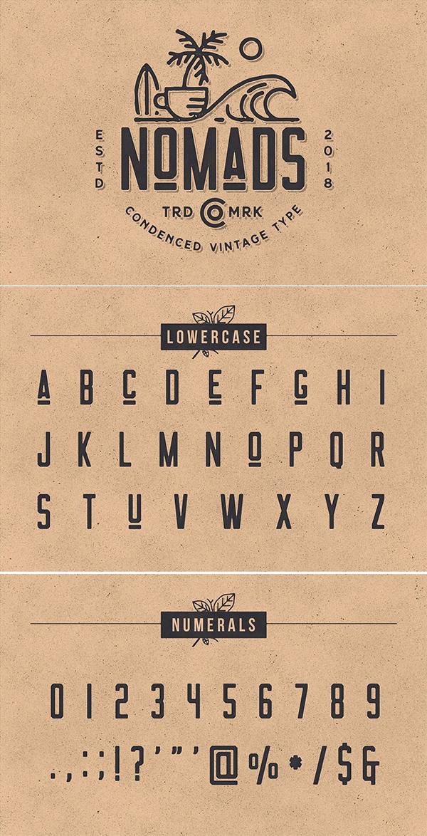 Nomads -The Farmer Original Typeface
