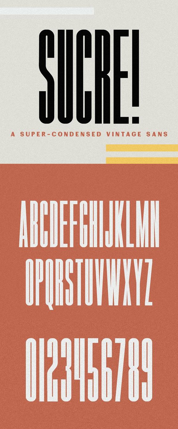 Sucre Vintage Condensed Sans