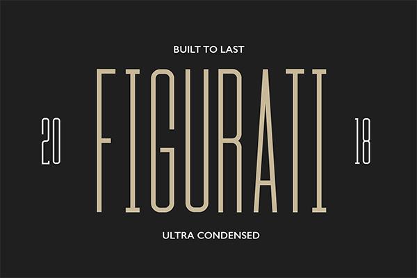Figurati - Condensed Typeface