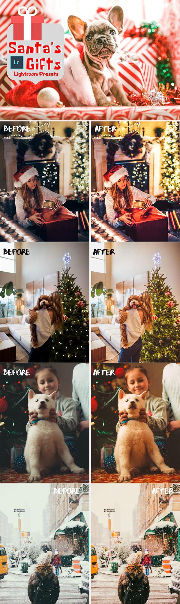 Free Santa's Gifts Lightroom Presets