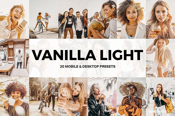20 Vanilla Light Lightroom Presets