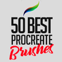 Post Thumbnail of 50 Best Procreate Brushes For 2021