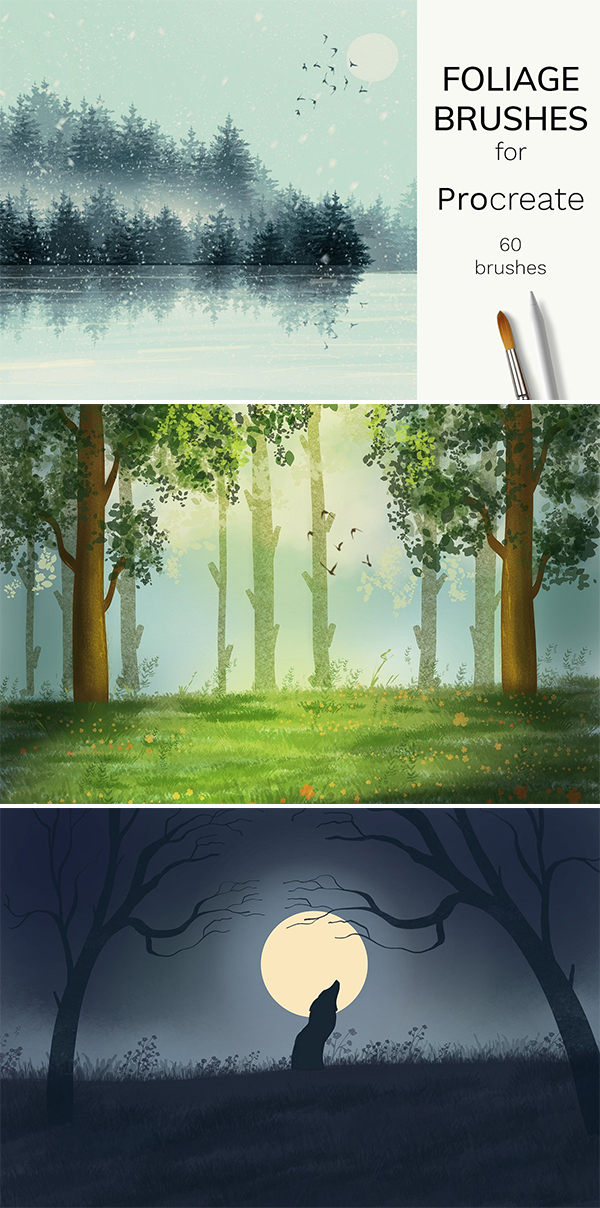 Foliage brushes for Procreate