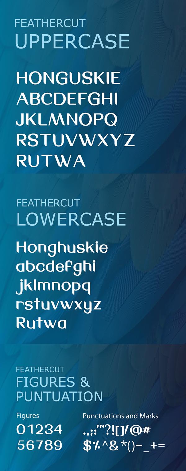 FeatherCut Font Letters