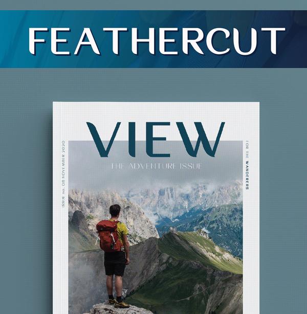 FeatherCut Free Font