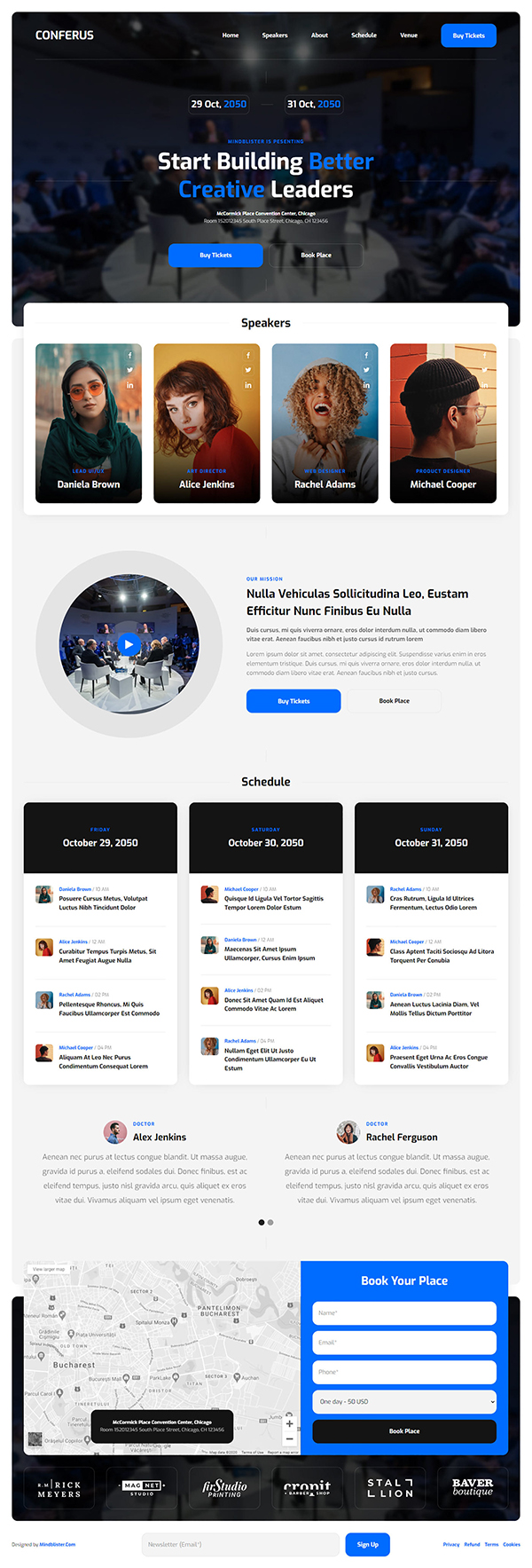 Conferus - Free Event Website Template