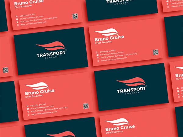 Free Transport Company Business Card Design