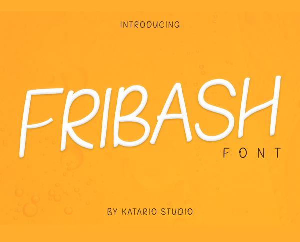 Fribash Free Font