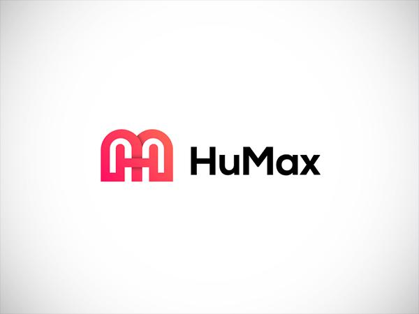 HuMax Logo Design ( Letter H + m + Connect ) Sanaullah Ujjal