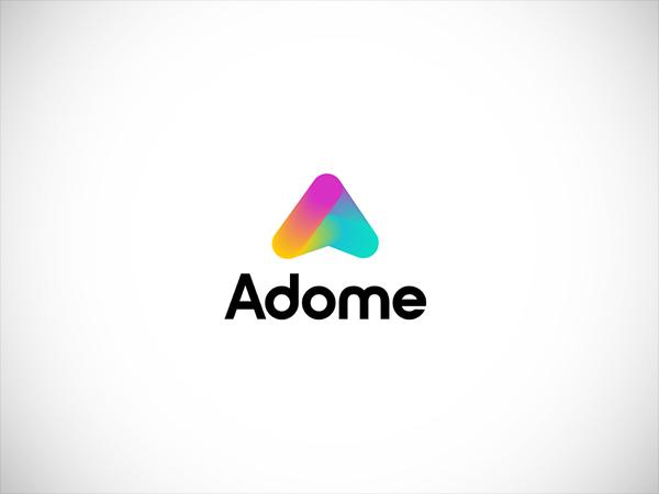 Adome modern logo design by Mithun Das