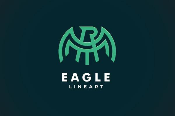 Abstarct Eagle Line Art Logo