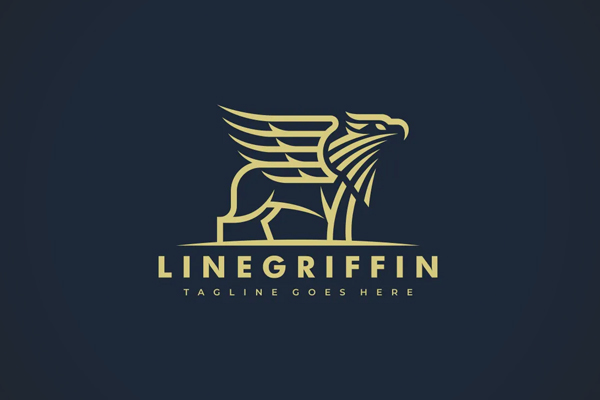 Griffin Lineart Logo template
