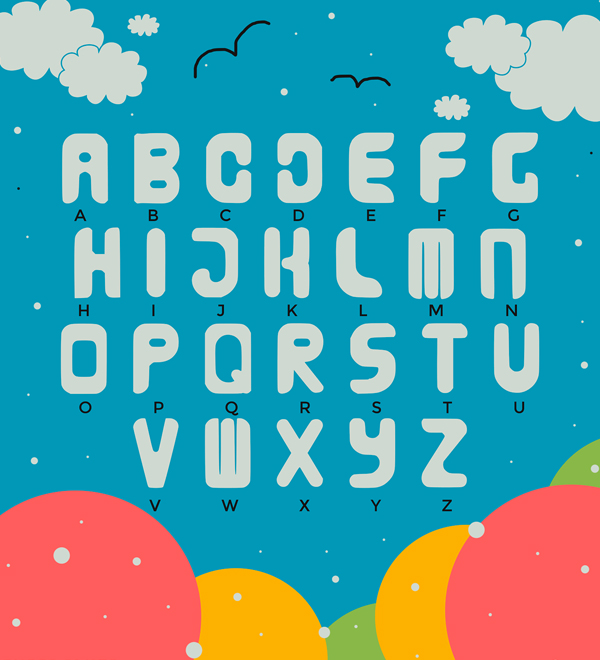 Miwruy Font Letters