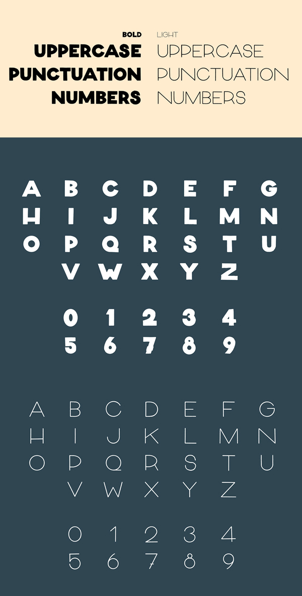 Organik Font Letters