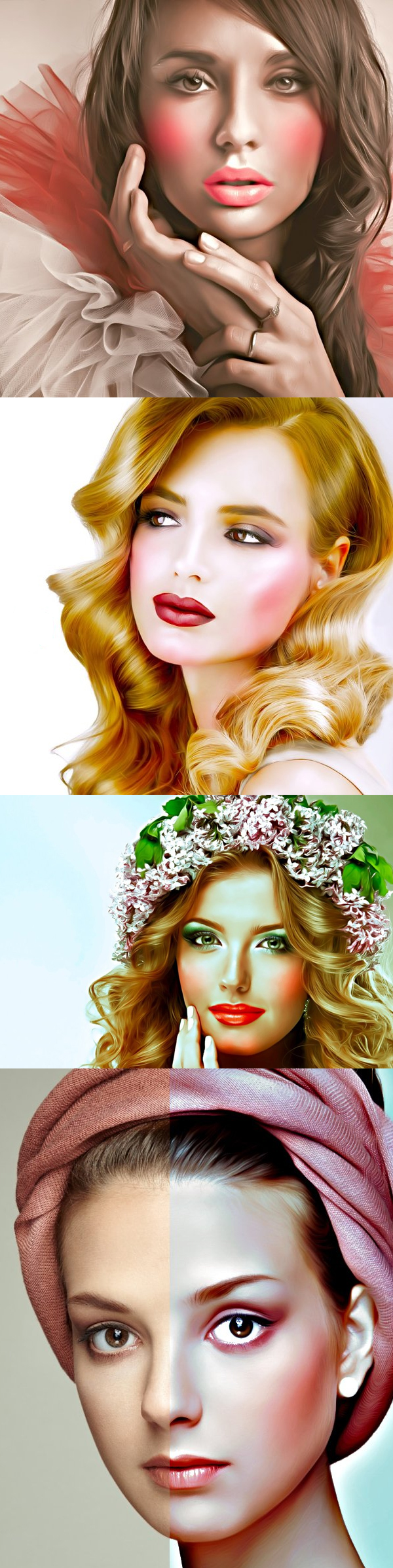 Skin Makeup Retouching Photoshop Action