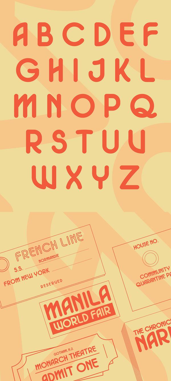 Roamantic Font Letters
