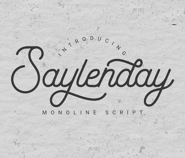 Saylenday Free Font