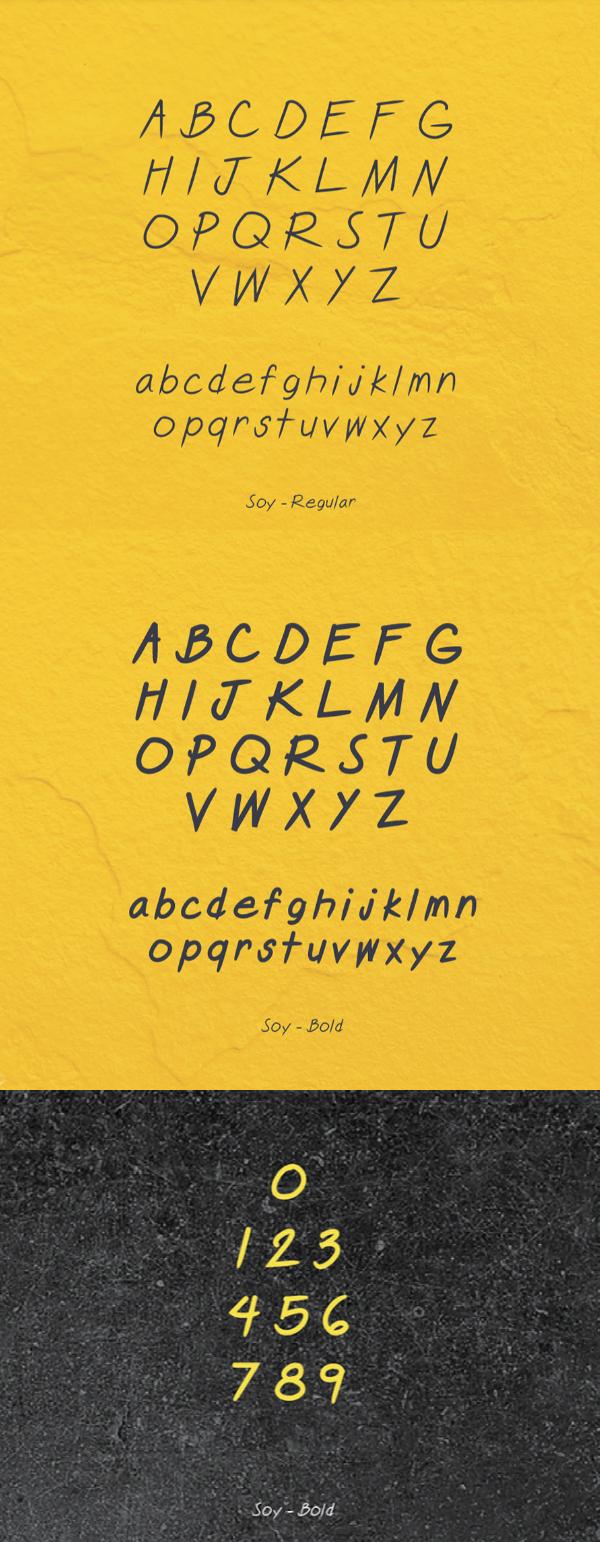SOY Font Letters
