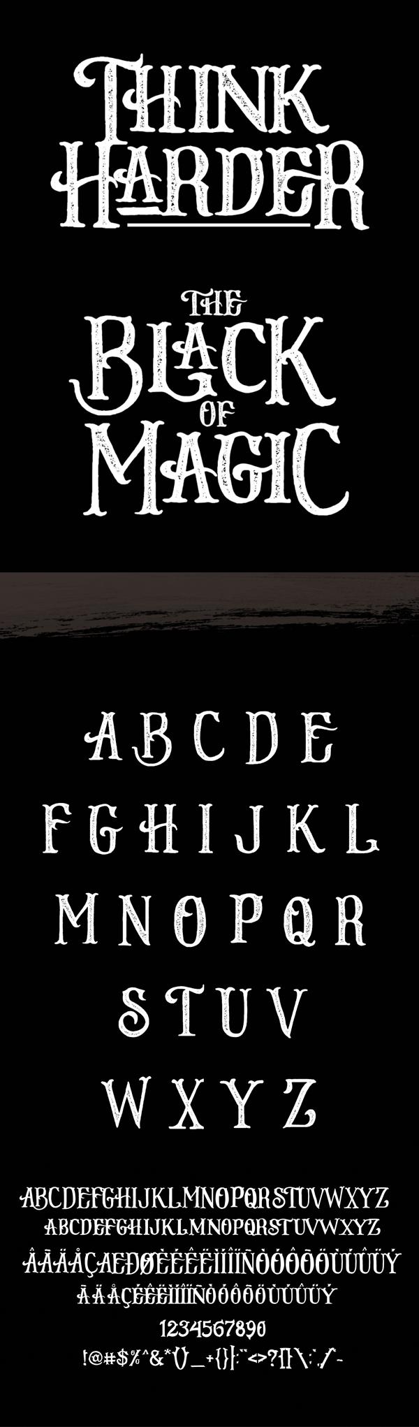 Stone Board Font Letters