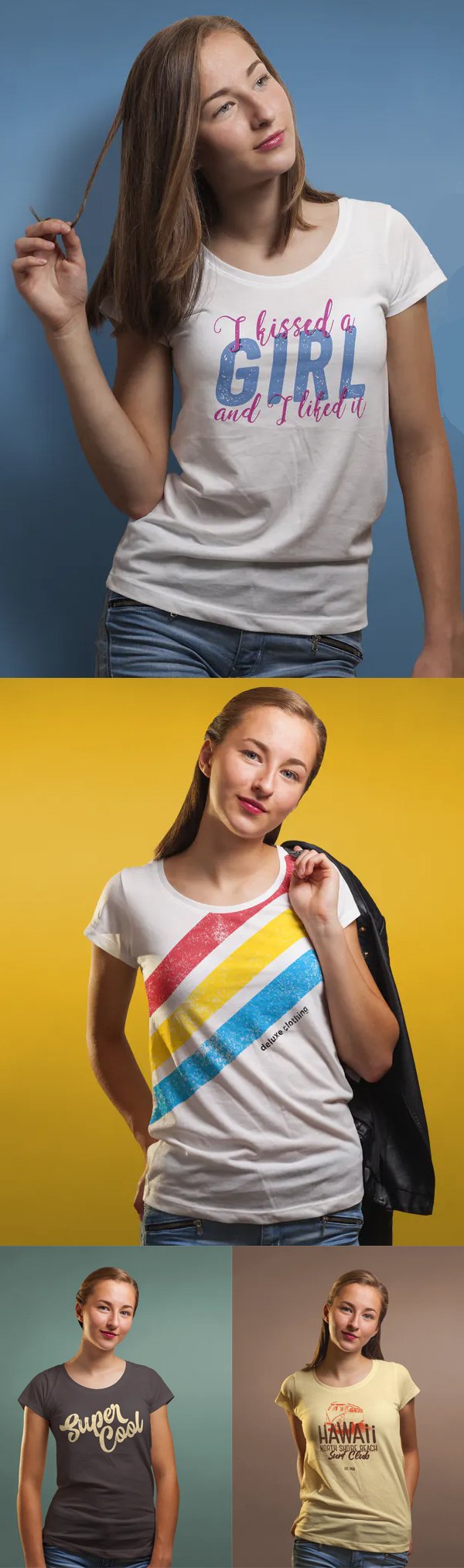 Awesome Neck T-shirt Mock-up