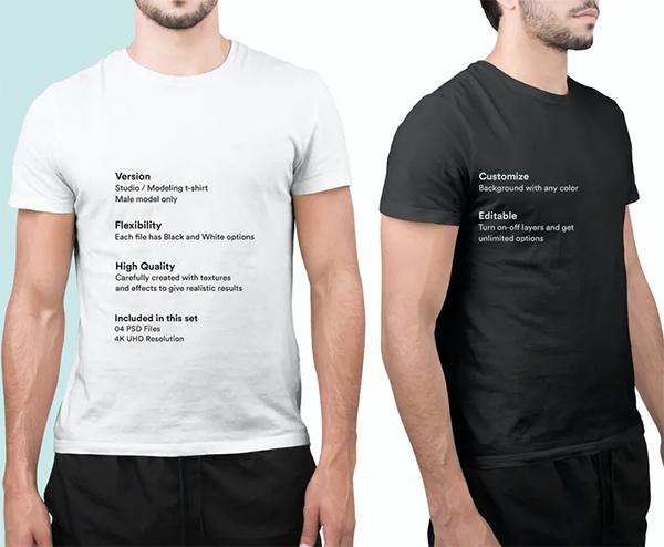 Black White T-Shirt Mockups