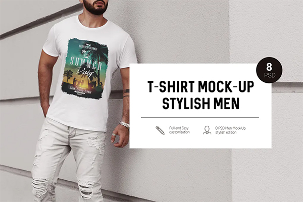 Stylish Men T-Shirt Mock-Up