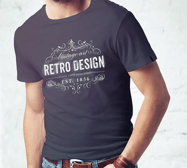 Fresh Elegant Men T-Shirt Mock-up