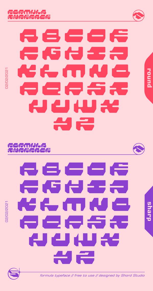 Formula Font Letters