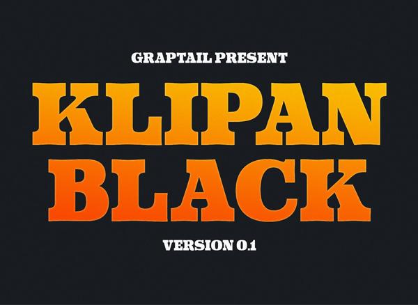 Klipan Black Free Font