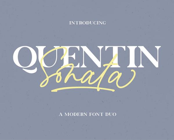 Quentin Sonata Free Font