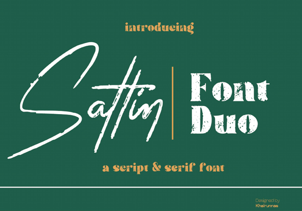 Sattin Free Font