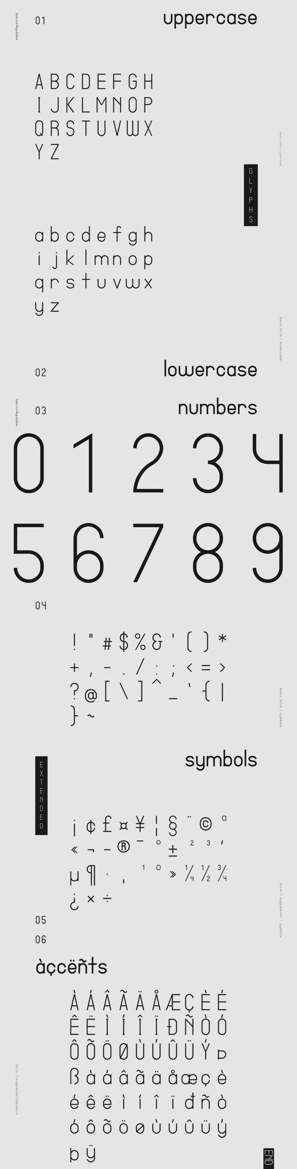 Shinsen Font Letters