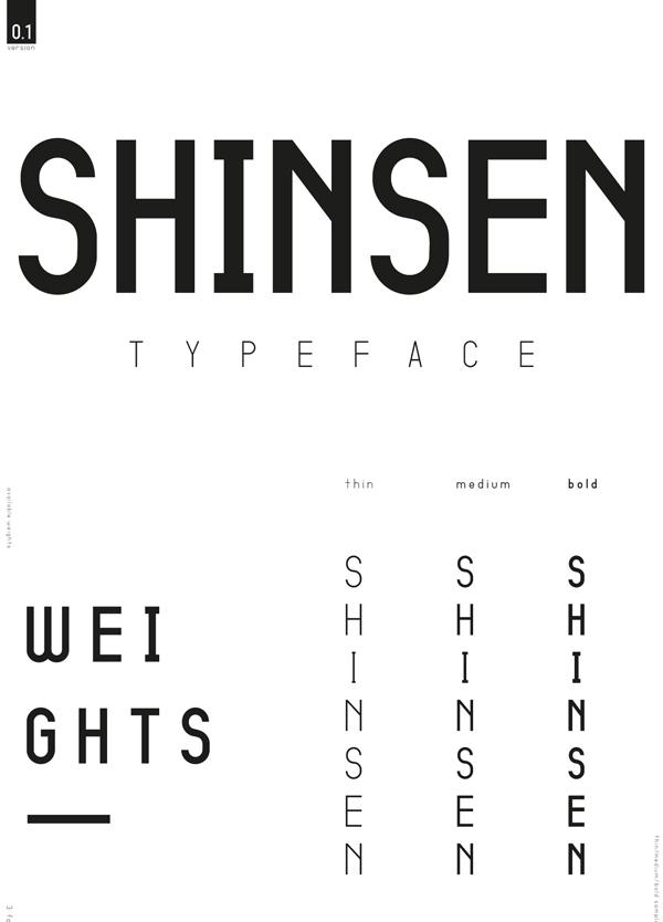 Shinsen Free Font