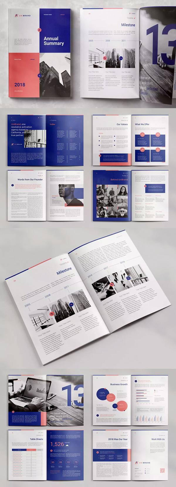 Attractive Annual Report Template