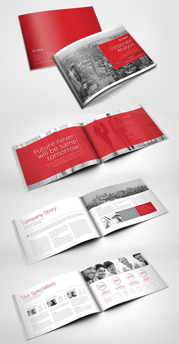 Swiss Annual Report Brochure Template