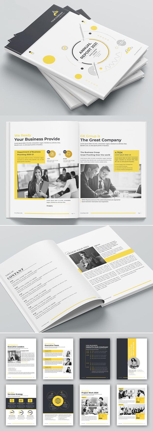 Perfect Creative Annual Report Template