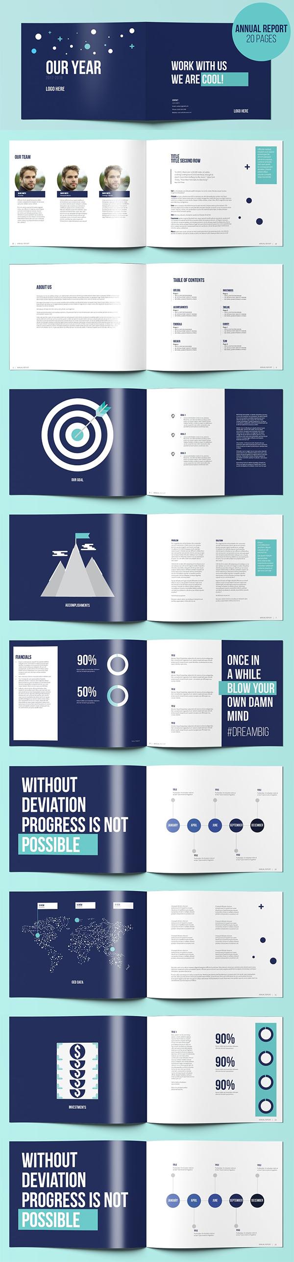 Simple Elegant Annual Report Template