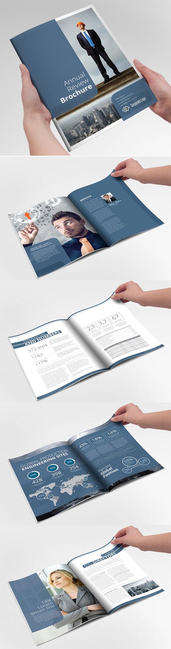 Annual Report Reviev Brochure Template