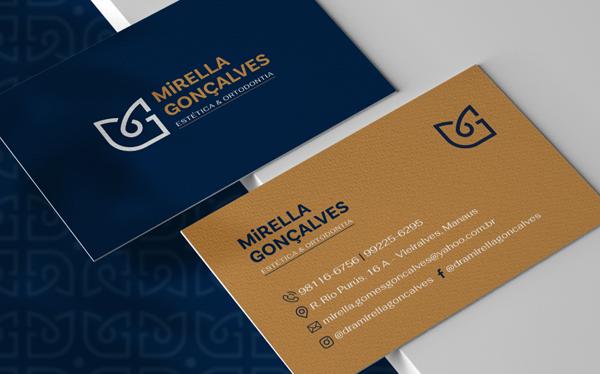 Business Card - Mirella Goncalves - Visual Brand by Klayton Fadul