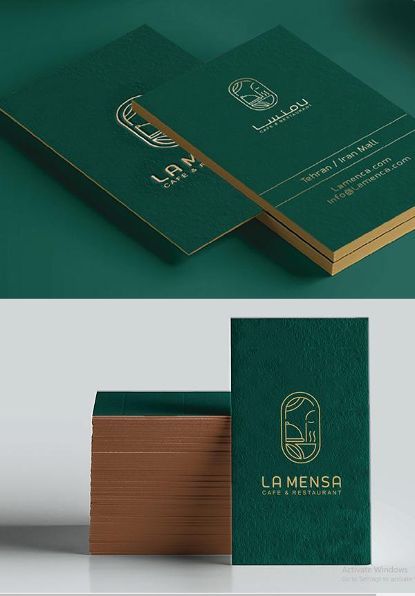 Business Card - LA MENSA Identity Design by Zeynab Shabankari