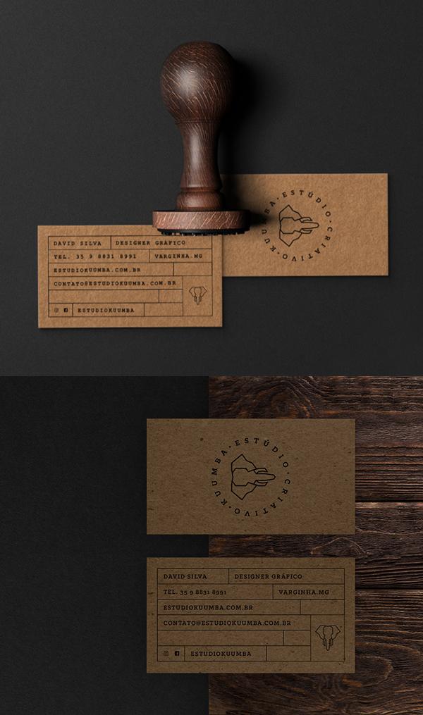 Business Card - Estúdio Kuumba   Brand Identity by David Silva