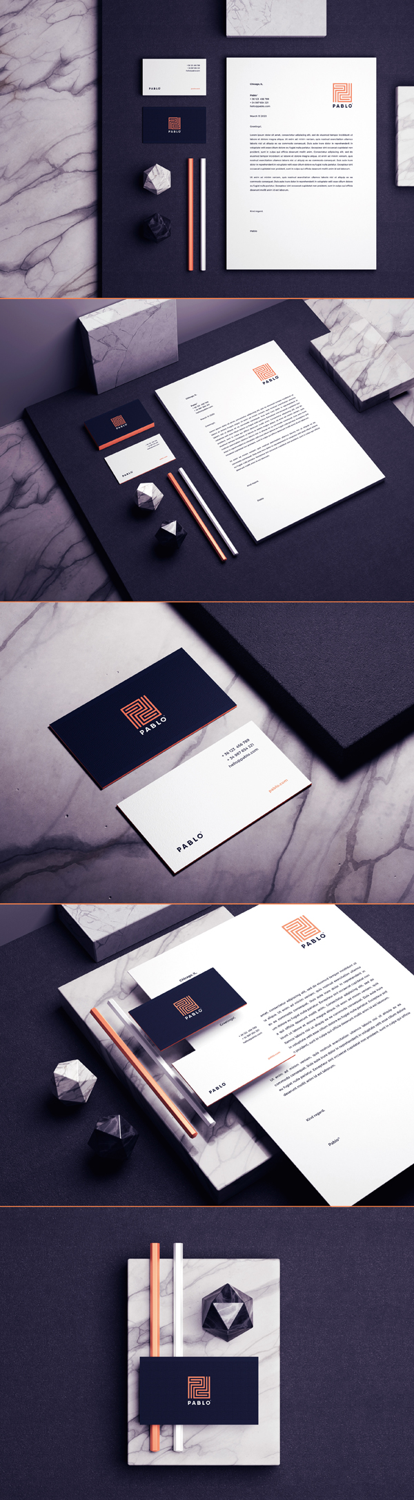 Stationery - Pablo Branding Identity by Andres Valderrama