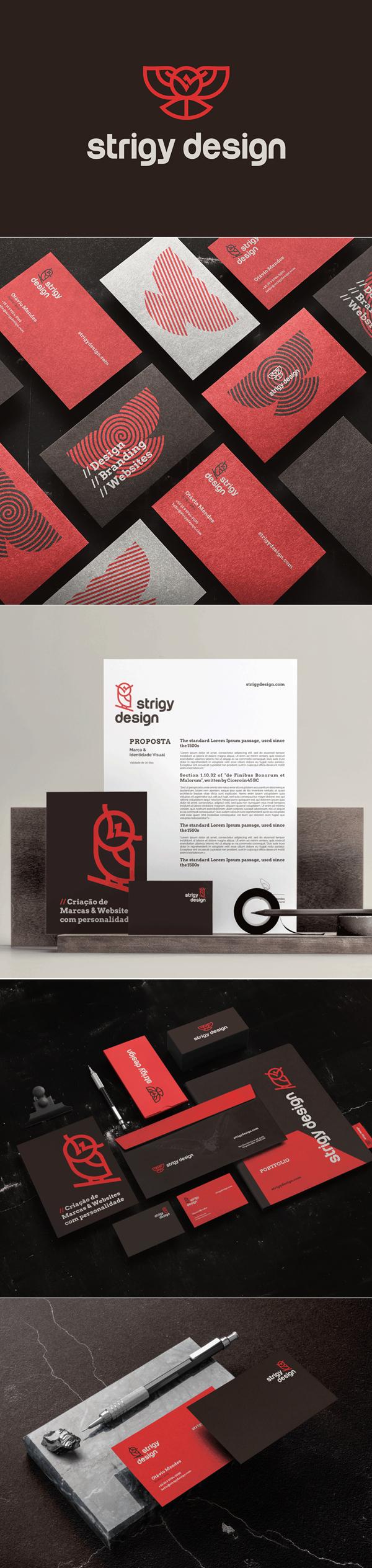 Stationery - Strigy Design Branding Identity by Strigy Design