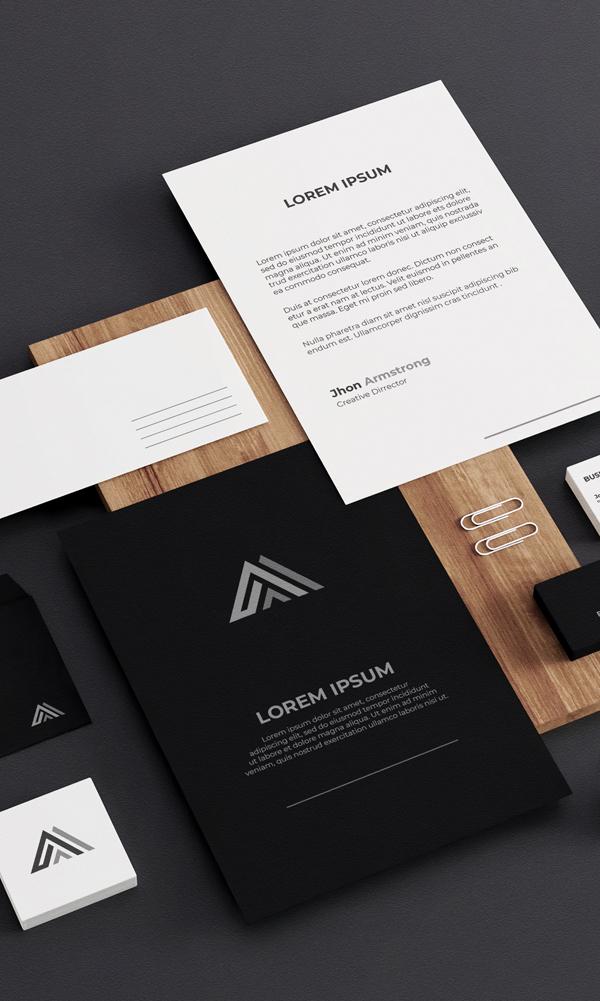 Stationery - Professional Brand Visual Identity Design By Yasir