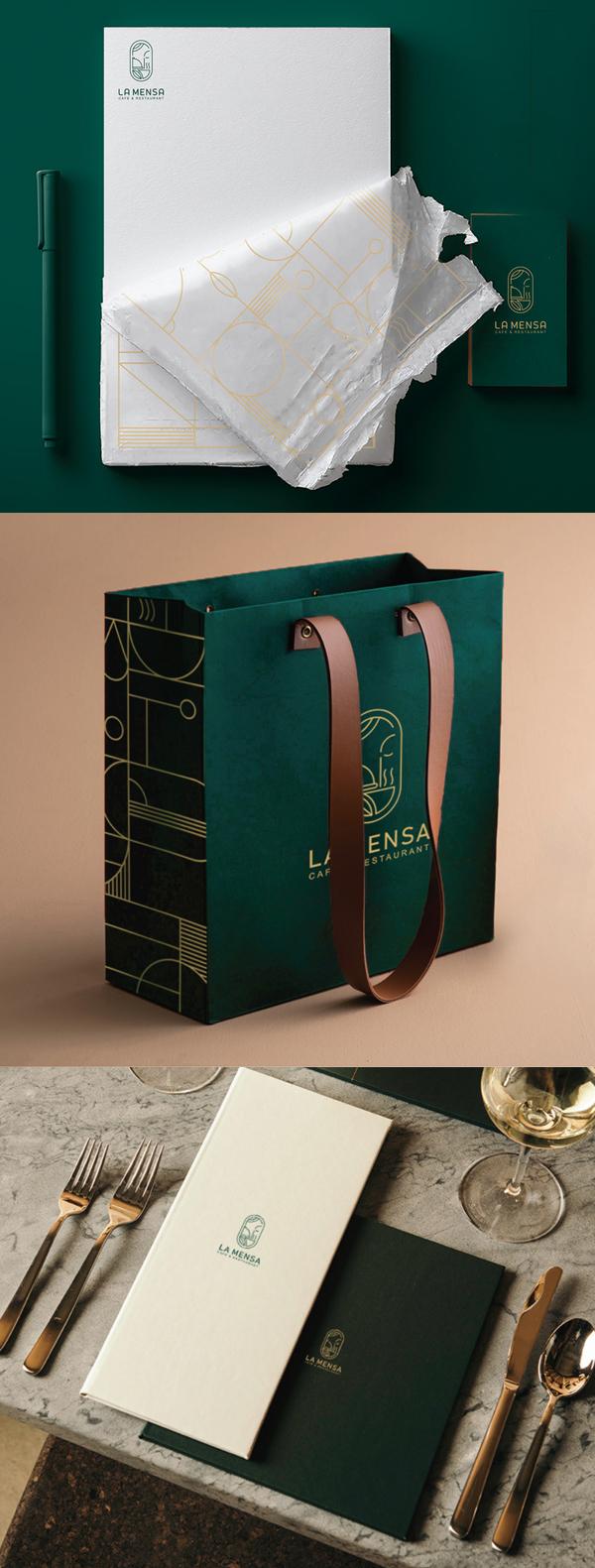 Stationery - LA MENSA Identity Design by Zeynab Shabankari