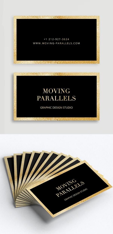 Elegant Gold Business Card