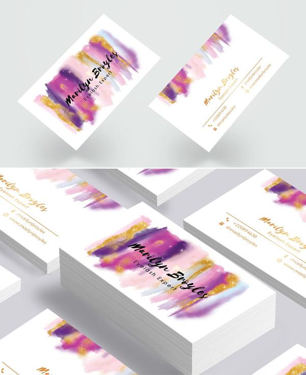 Makeup Artist Business Card Design