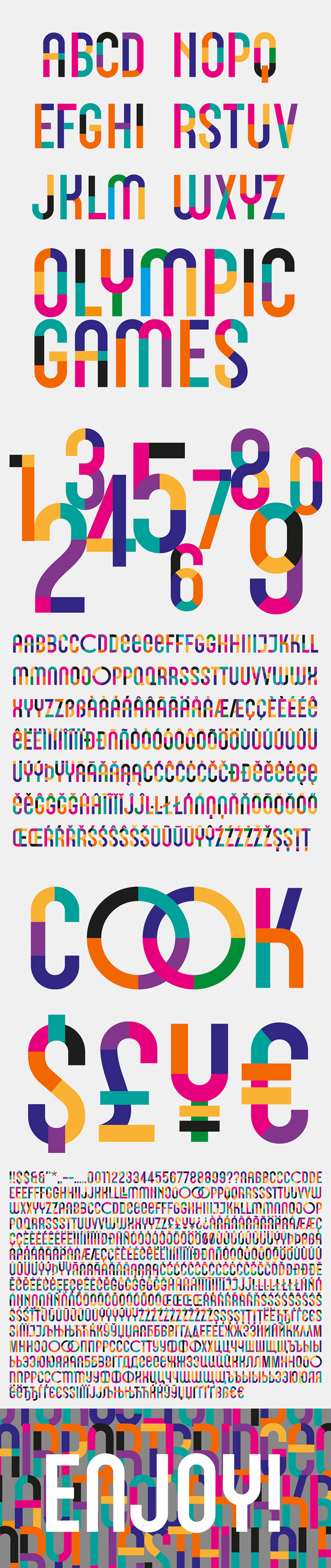 Cimero Pro Font Letters